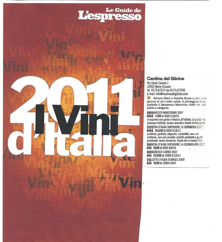 I Vini d'Italia 2011 - Le Guide de L'espresso.