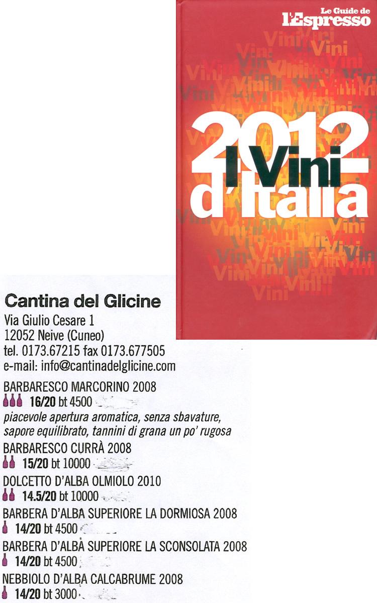 I Vini d'Italia - Le Guide de l'Espresso.