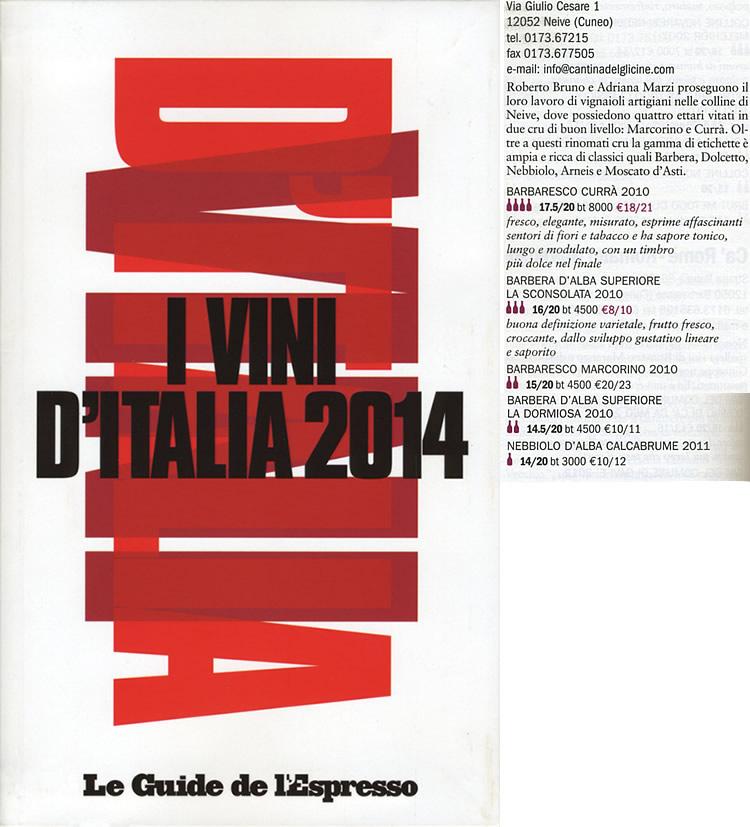 I Vini d'Italia 2014 - Le Guide de l'Espresso.