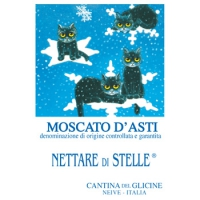 Moscato d'Asti D.O.C.G. Nettare di Stelle® Etichetta in versione invernale.